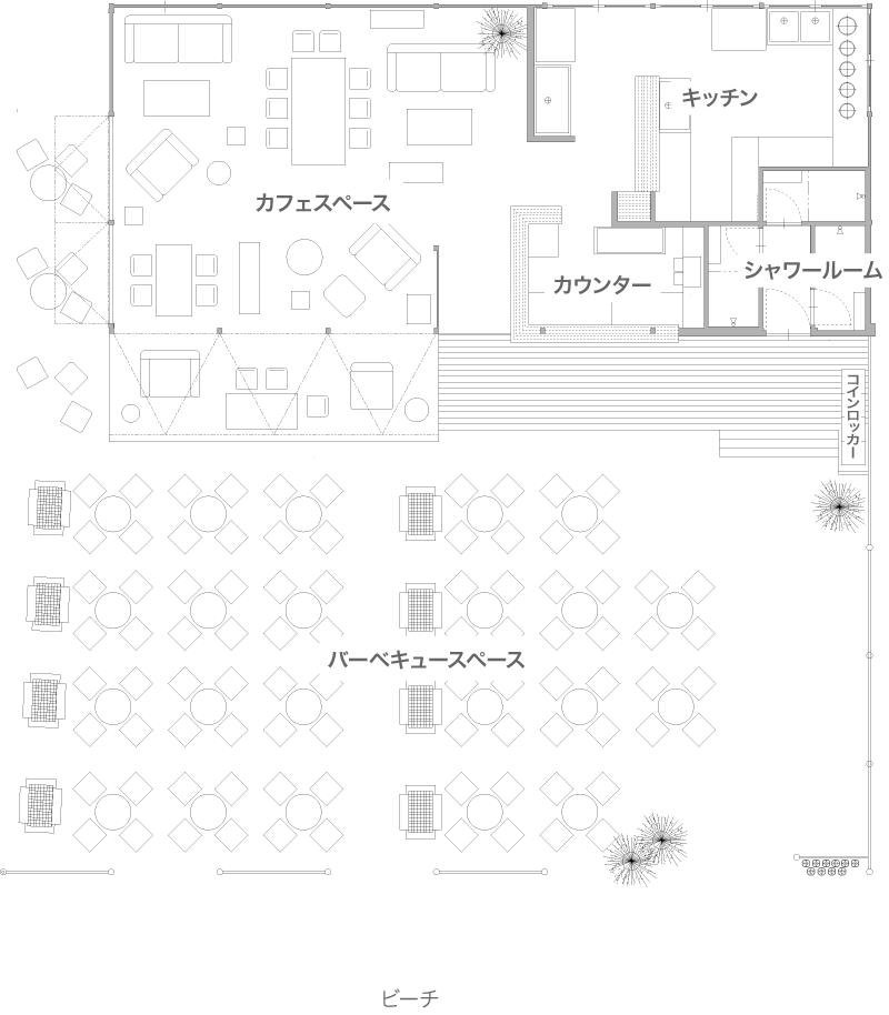 海の家3x6 間取り図