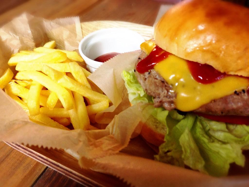 ハンバーガー③加工